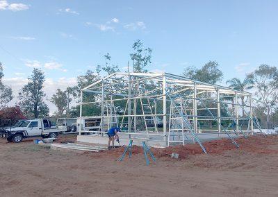 Metal frame sheds